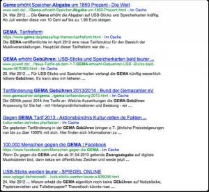 Google-Suche-GEMA