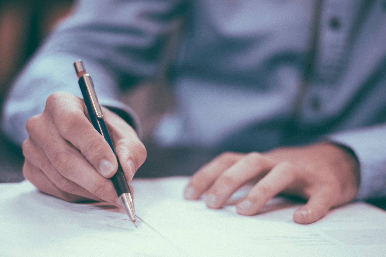 unterschreiben dokument