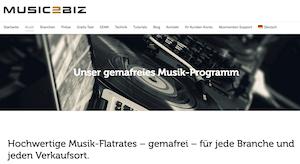 MUSIC2BIZ Musik-Flatrates