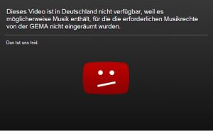 Youtube Sperre wegen GEMA