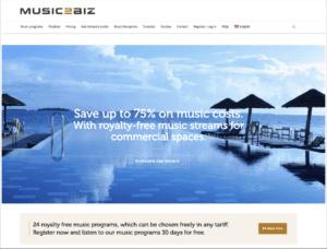 1 music2biz home page