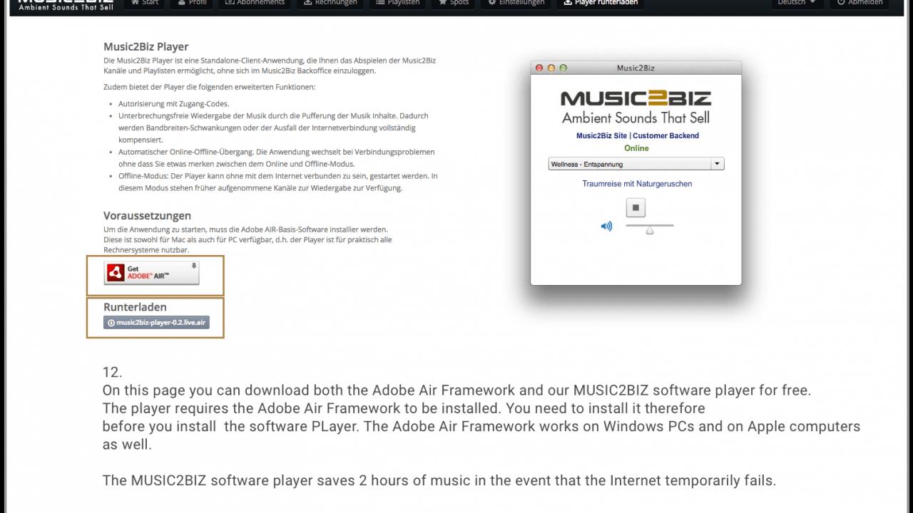 12- Player herunterladen