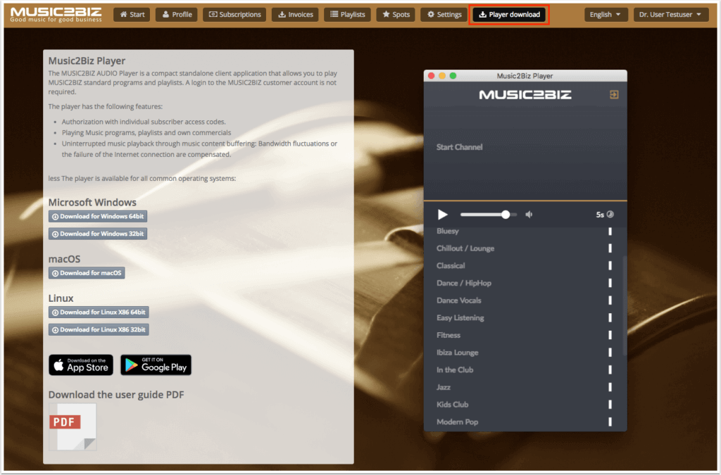 Download Audio Player