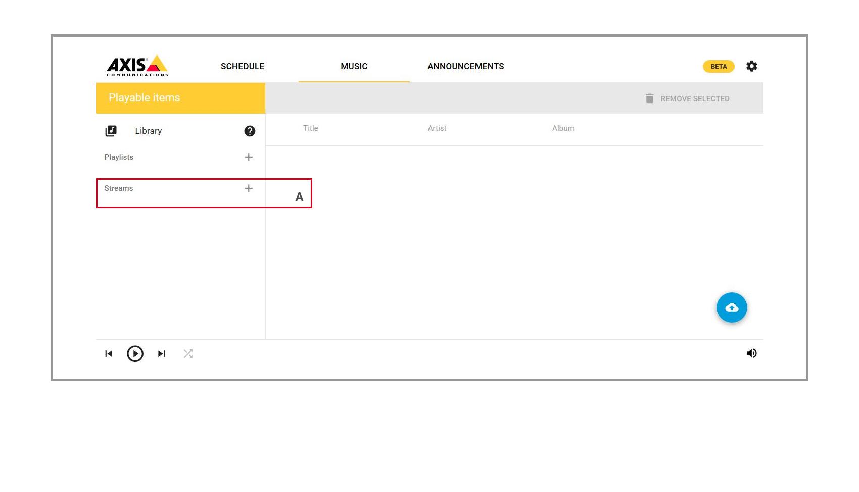 17 Axis Musik Verwaltung Detailscreen
