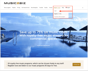 2 visit customer login page