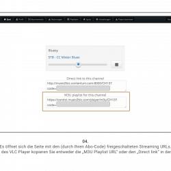 4 Beispiell Streaming URL