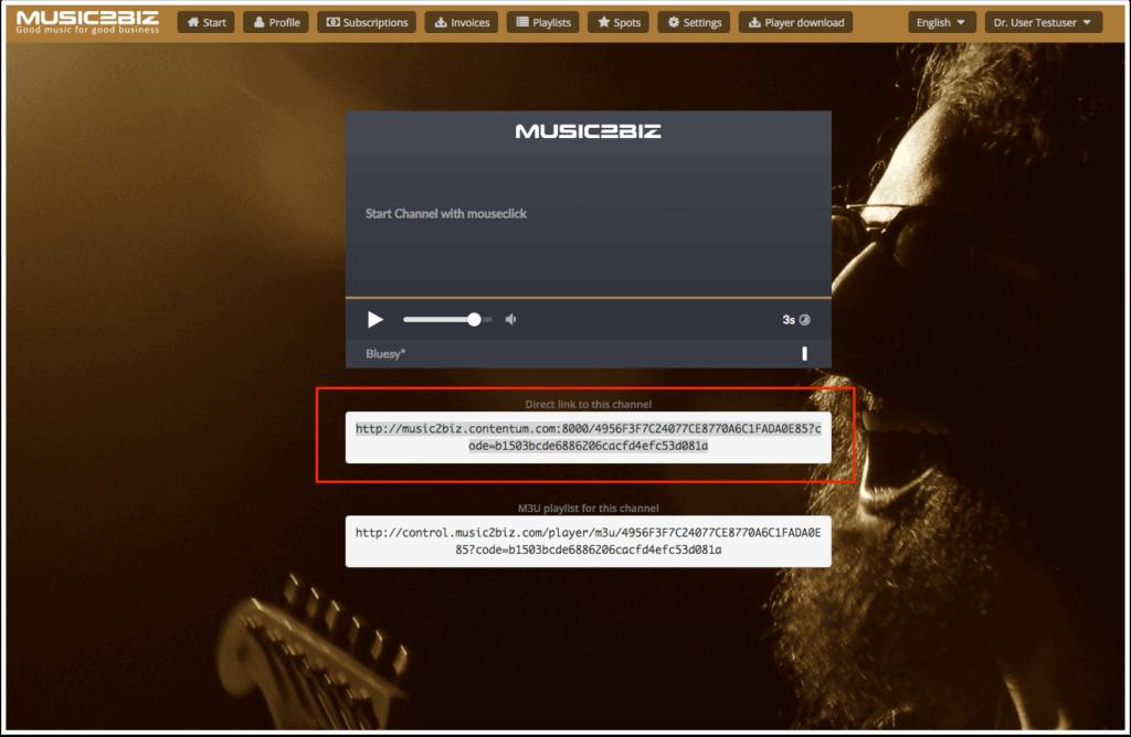 Unterseite Zur Auswahl Eines Musik Programms Beispiel Bluesy