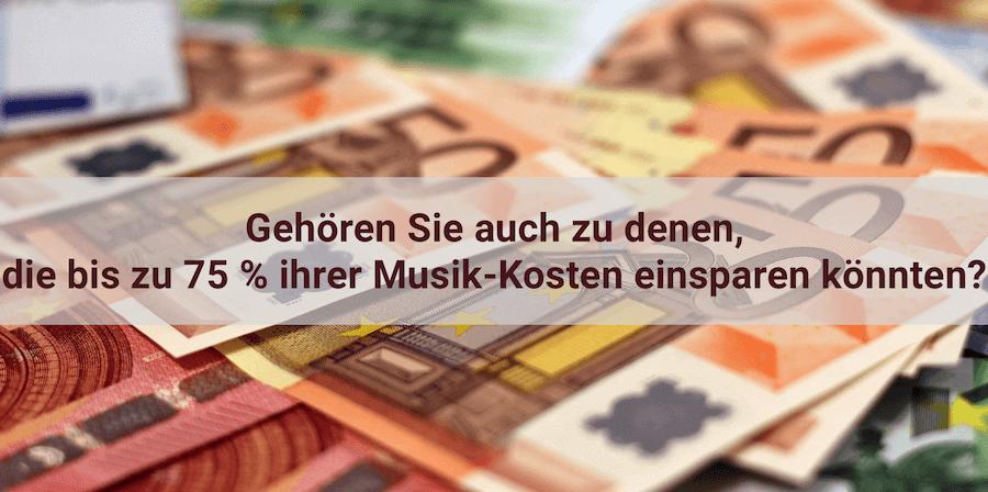 Musikkosten einsparen