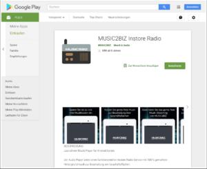 music2biz player im android play store