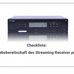 Titel Receiver Checkliste