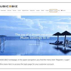 MUSIC2BIZ player installation step 1
