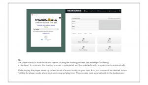 MUSIC2BIZ player installation step 10