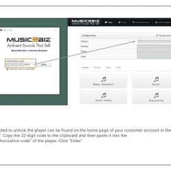 MUSIC2BIZ player installation step 9