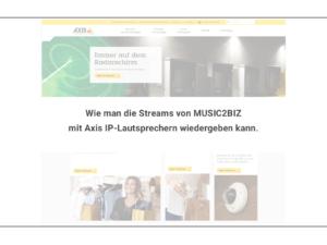 MUSIC2BIZ integriert in Axis Network Lautsprecher