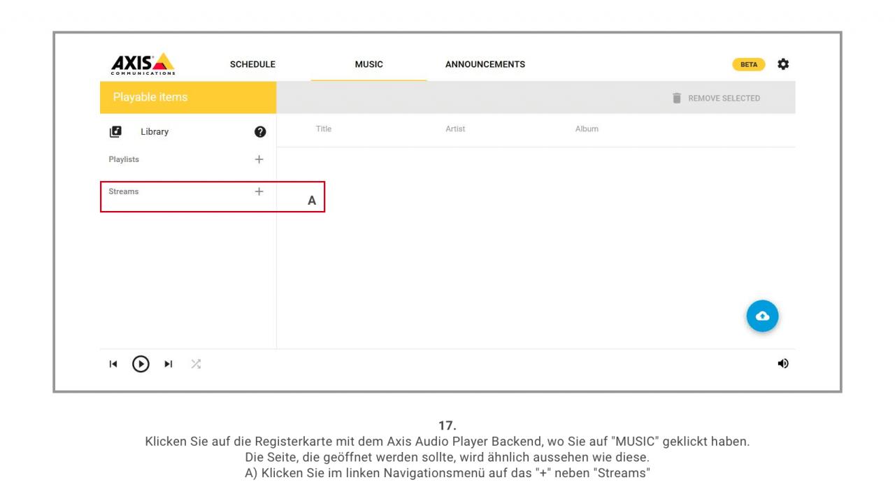 17 Axis Musik Verwaltung Detailscreen 1