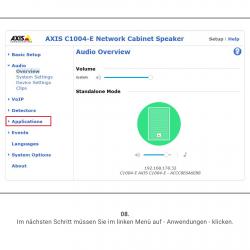8 Axis Speaker Menu 1
