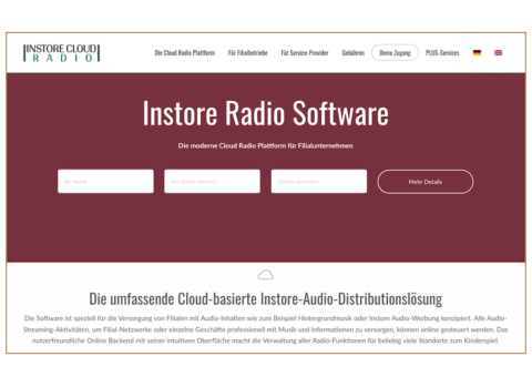 Instore Cloud Radio Startseite