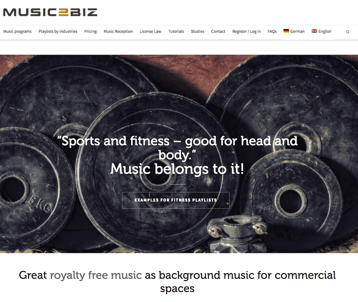 MUSIC2BIZ – Royalty free music playlists for business premises