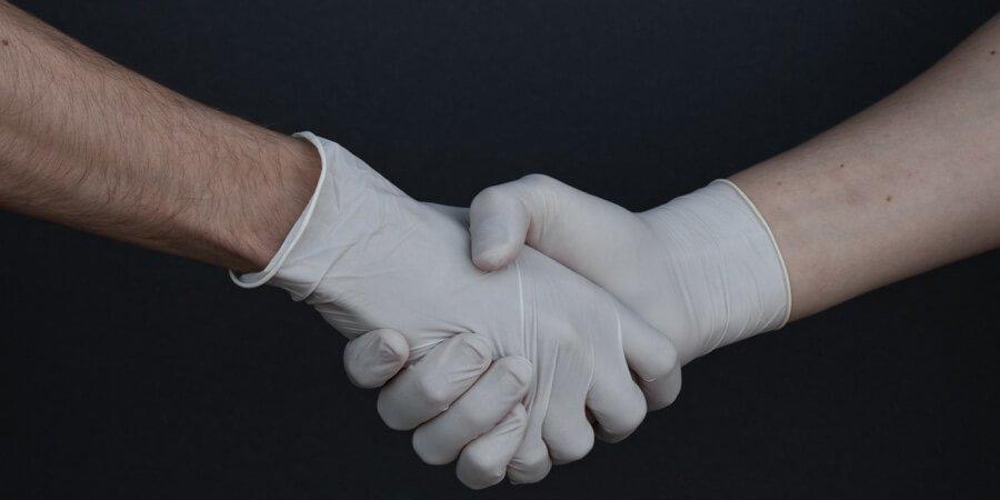 corona handshake