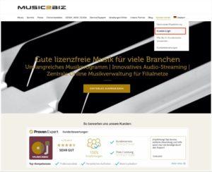 ihr music2biz kundenkonto aufrufen 1