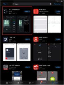 der bluos controller im ios app store